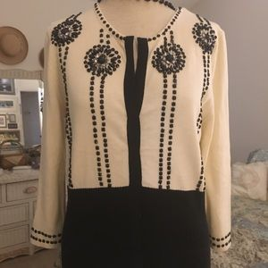 Vintage looking black and white sweater